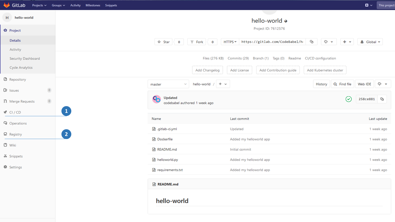 Continuous Integration with GITLAB CI and Docker - Code Babel