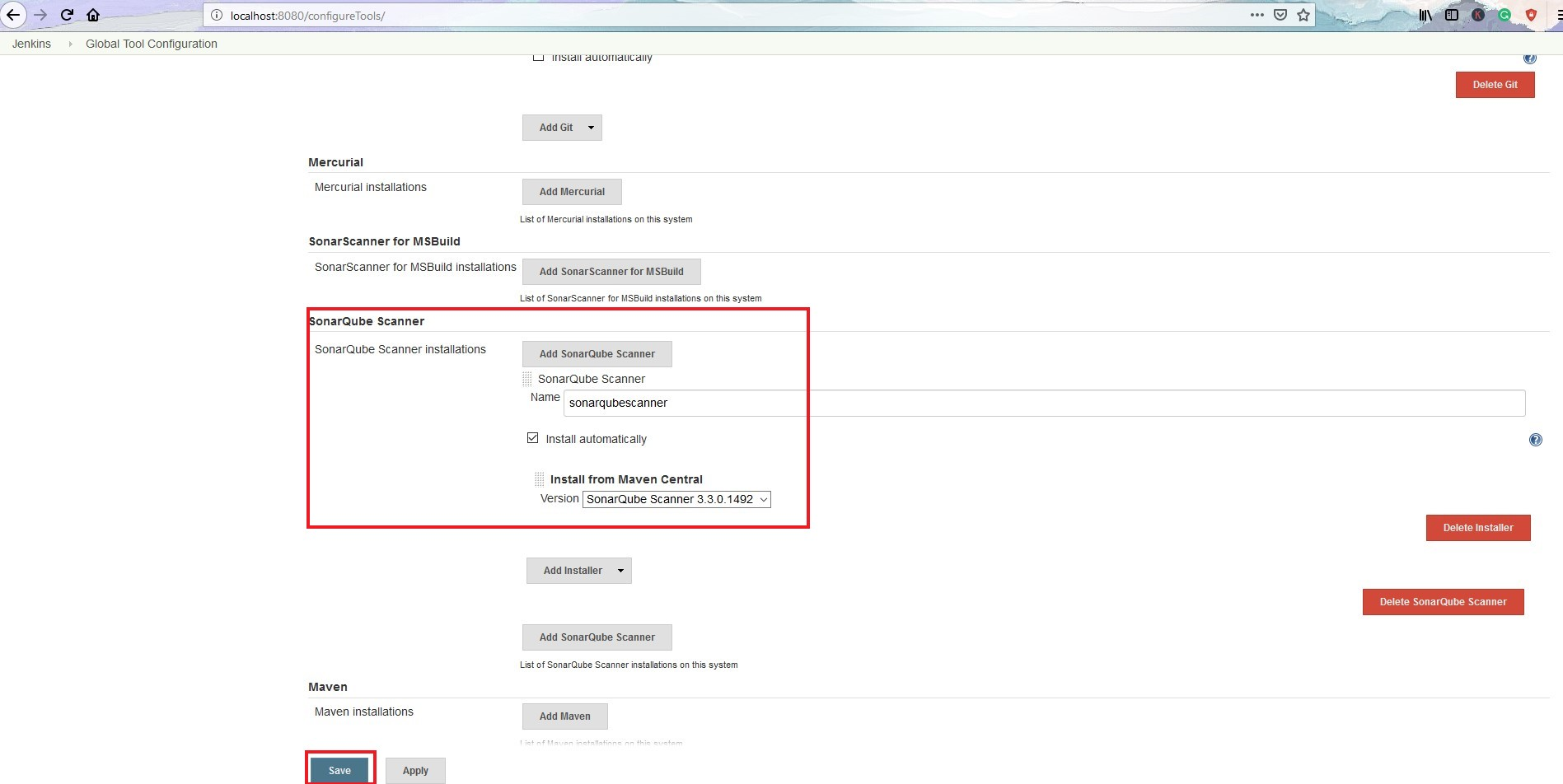 SonarQube Scanner Configuration in Jenkins
