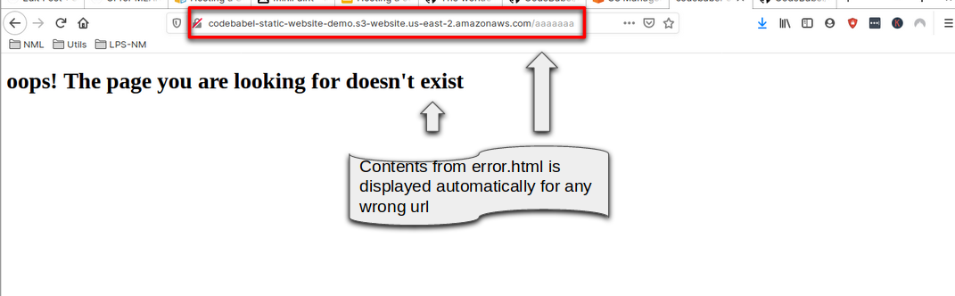 Automatic Redirect of Error Message